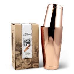 Boston Shaker Set Copper Tin on Tin with Box Fifth & Vermouth