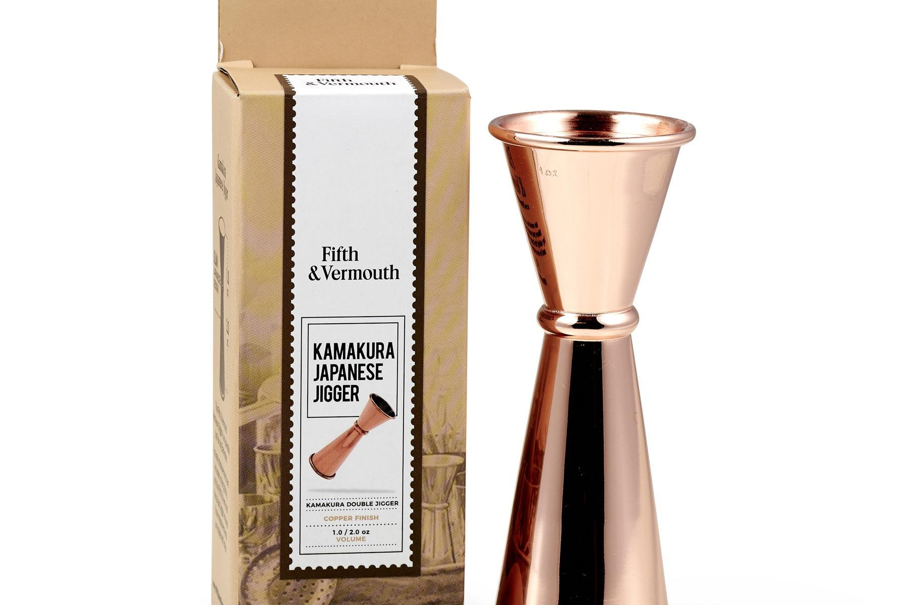 Kamakura Japanese Double Jigger Copper with Package - Fifth & Vermouth