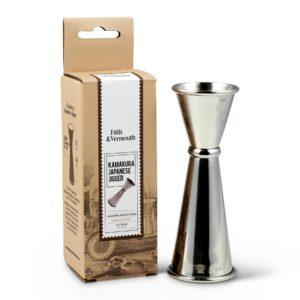 Kamakura Japanese Double Jigger Stainless Steel with Package - Fifth & Vermouth