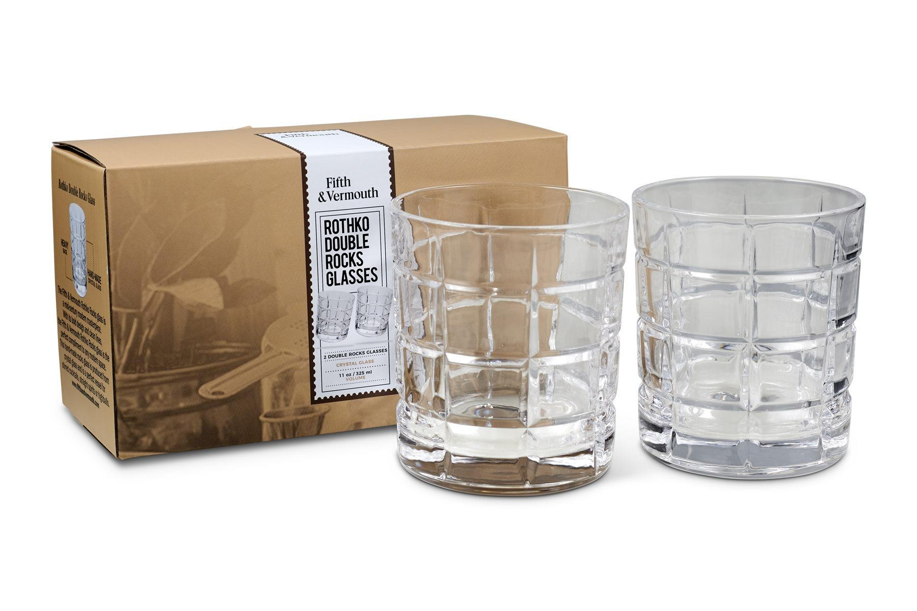 Rothko Double Rocks Glass Set 11oz with Packaging - Fifth & Vermouth