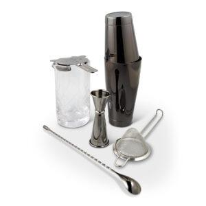 Gun Metal Black Shaken & Stirred Cocktail Set Canada